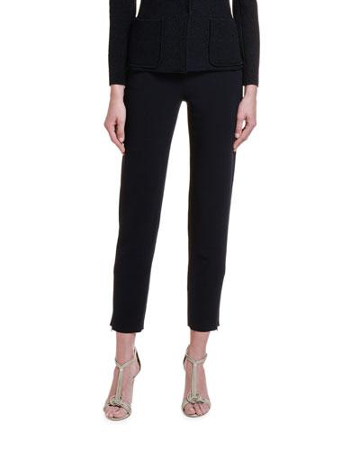 Textured Stretch-Wool Slim-Leg Pants