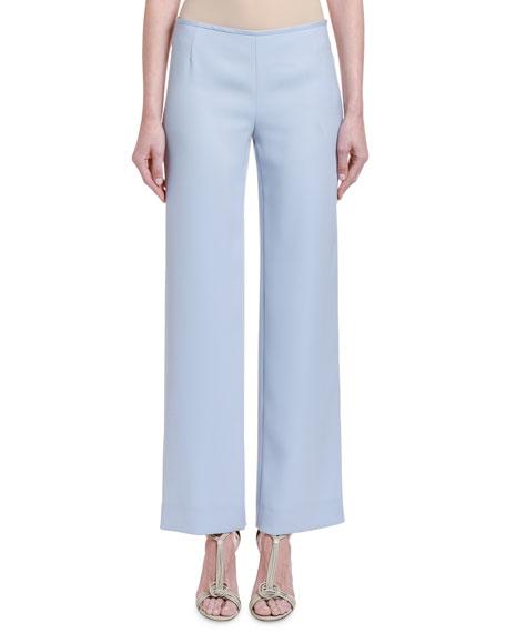 Giorgio Armani Chambray Straight-Leg Pants
