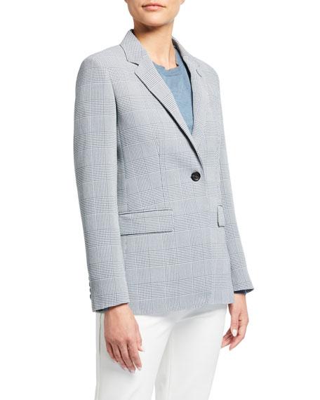 Maxmara Olona Glen-Plaid Wool Jacket