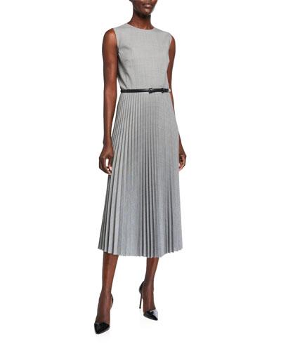 Ariella Checked Wool Midi Dress