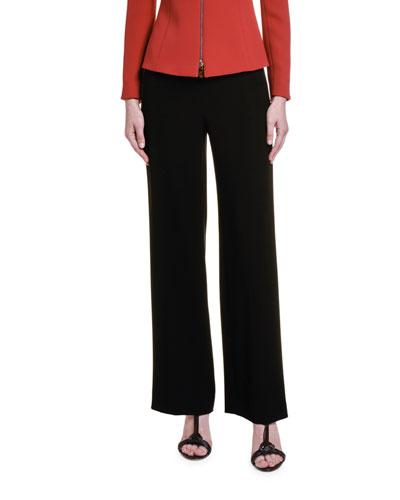 Double Crepe Silk Cady Zip-Front Jacket