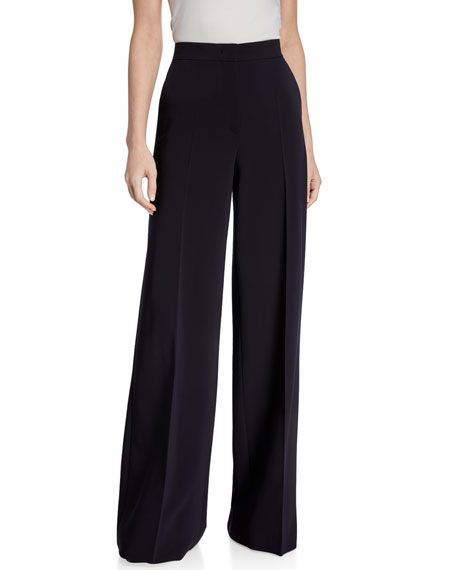 Maxmara Ultramarine Wool Crepe Trousers