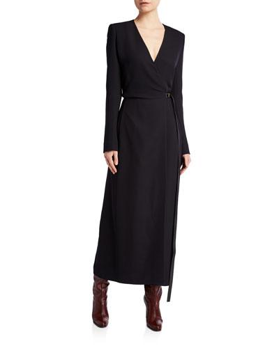 Vana Belted Wrap Silk Dress
