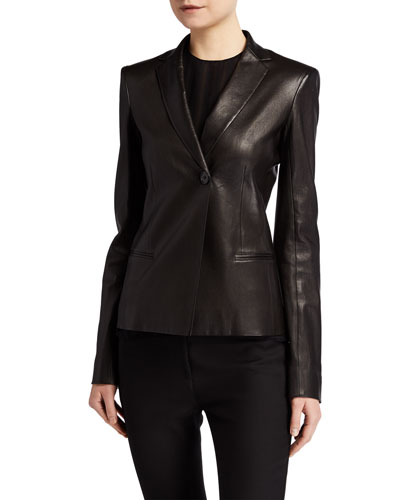 Emi Leather Blazer