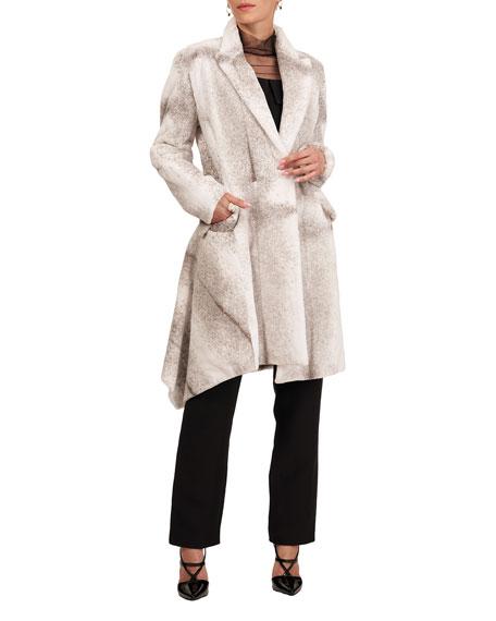 Burnett Sheared Mink Asymmetrical Short Coat