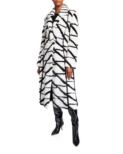 Mink Intarsia Coat