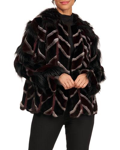 Mink And Fox Fur Intarsia Jacket
