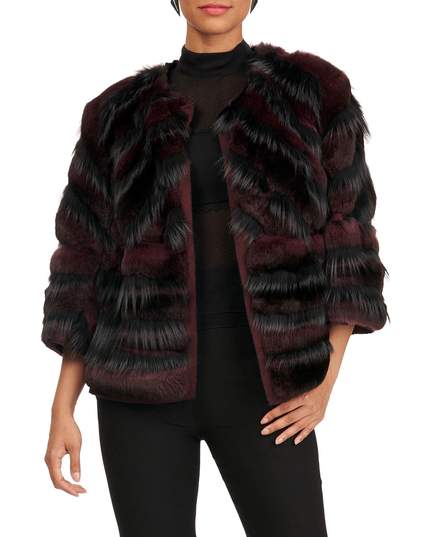 Chinchilla Jacket w/ Fox Inserts