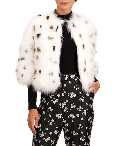 Spotted Fox Fur Bolero Jacket