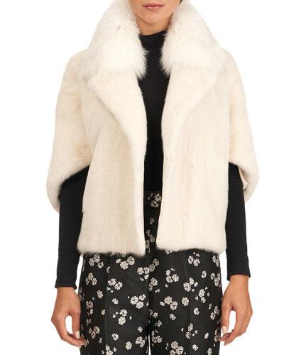 Mink Fur Jacket With Fox Collar
