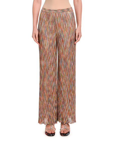 Missoni Space-Dye Knit Straight-Leg Pants