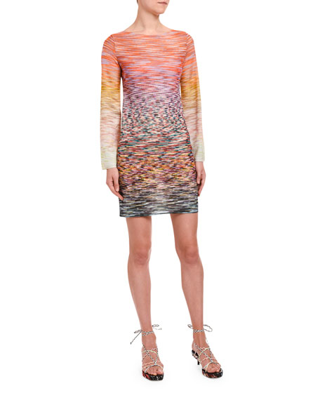 Missoni Long-Sleeve Degrade Mini Dress