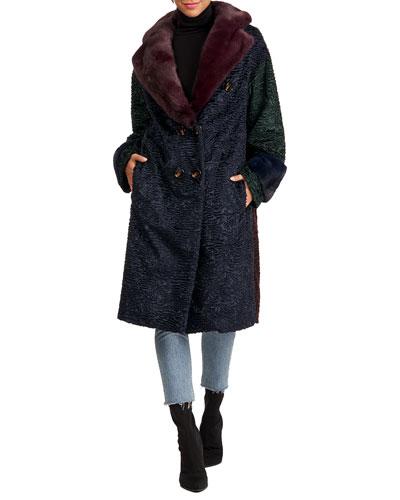 Short Coat W/ Mink Fur Collar