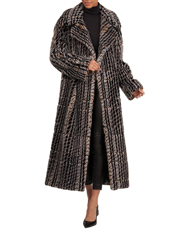 Oscar De La Renta Coats HOUNDSTOOTH MINK-FUR COAT