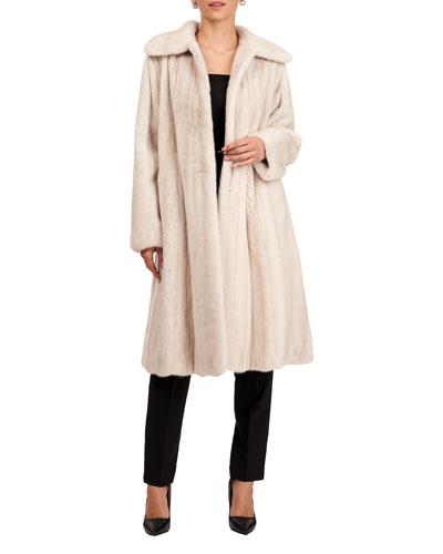 Short Mink Fur Coat with Silk Twill Lining
