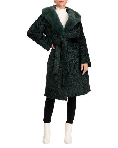 Short Coat W/Mink Fur Collar