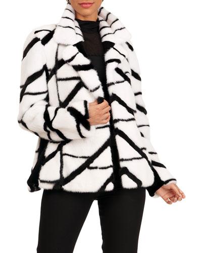 Mink Intarsia Jacket