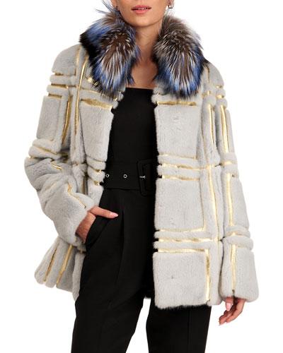 Mink Fur Jacket W/ Silver Fox Collar