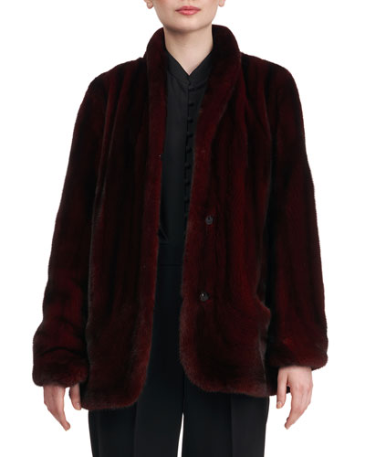 Mink Fur Jacket w/ Rounded Front
