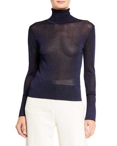 Altuzarra Lexia Shimmer-Knit Turtleneck Sweater
