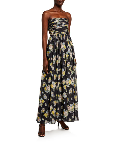 Brock Collection Quintafoglia Strapless Maxi Dress