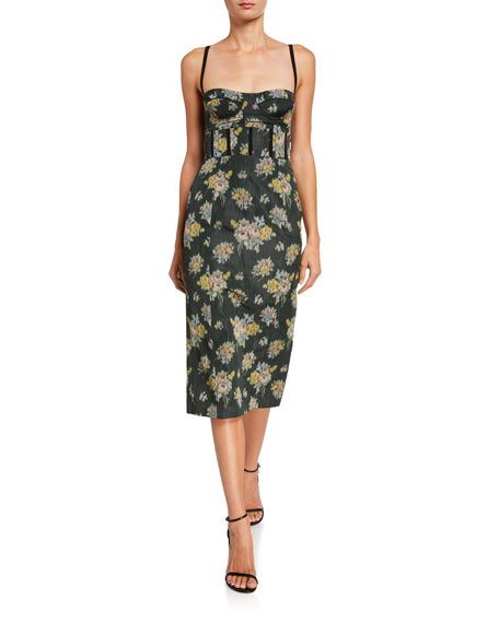 Brock Collection Floral Print Balconette Dress
