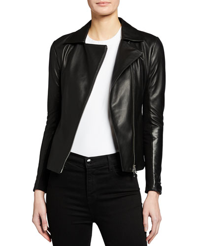 Carryover Leather Jacket with Jersey Inset