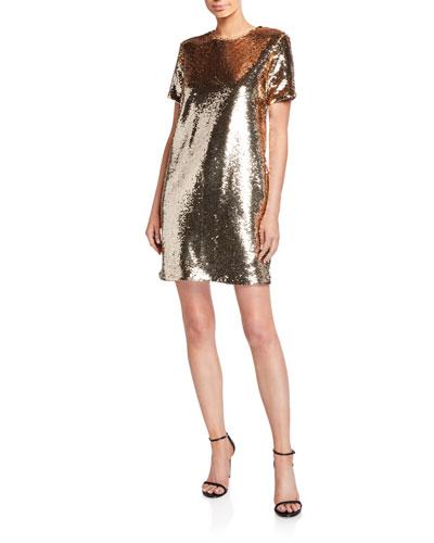 Sequin Tunic T-Shirt Mini Dress