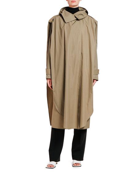 Bottega Veneta Draped Cotton Trench Coat