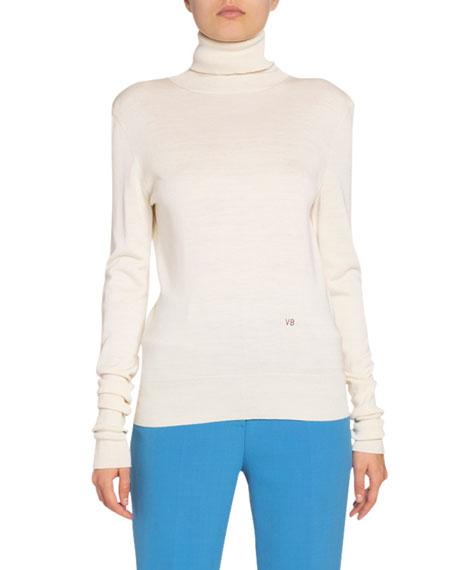 Victoria Beckham Silk Slim-Fit Turtleneck Sweater