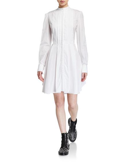 Alexander McQueen Pleated Poplin Shirtdress