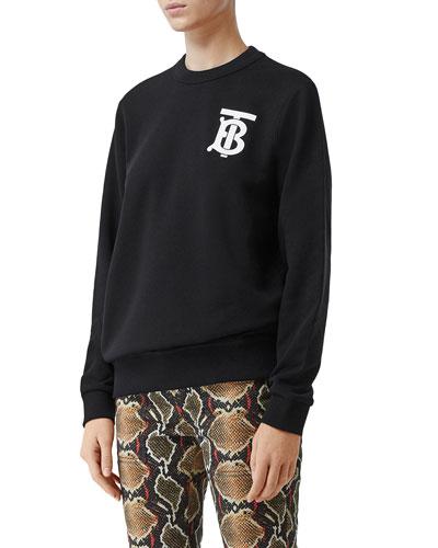 Dryden TB Monogram Crewneck Sweatshirt