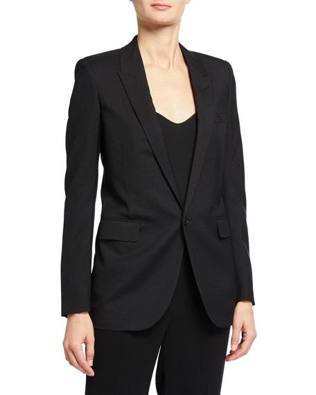 Saint Laurent Wool Gabardine Classic Blazer