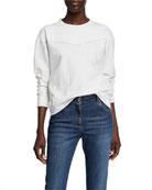 Brunello Cucinelli Cotton Felpa Two-Tone Sweater