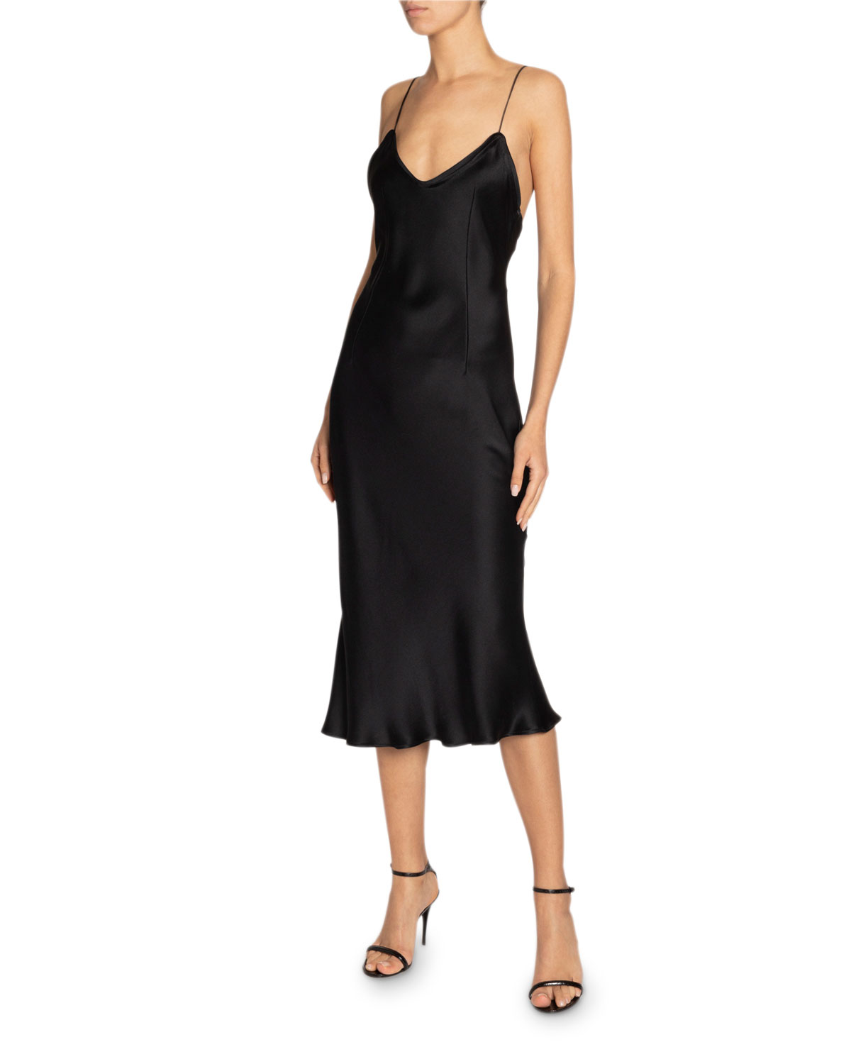 Saint Laurent Dresses SILK MIDI SLIP DRESS
