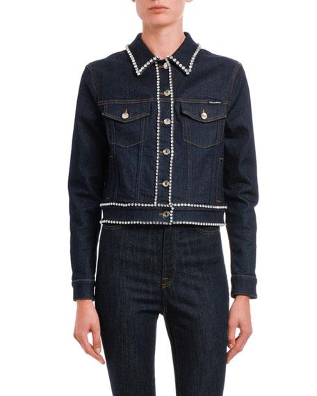 Dolce & Gabbana Crystal-Embroidered Denim Jackets