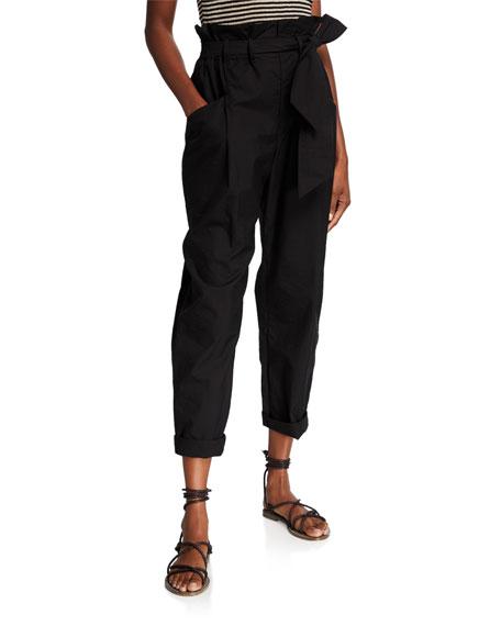 Brunello Cucinelli Techno Poplin High-Rise Pants