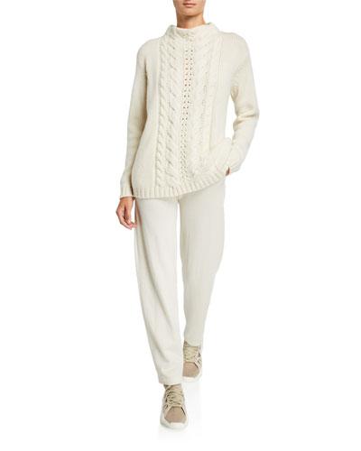 Cashmere Mock Neck Sweater | Neiman Marcus