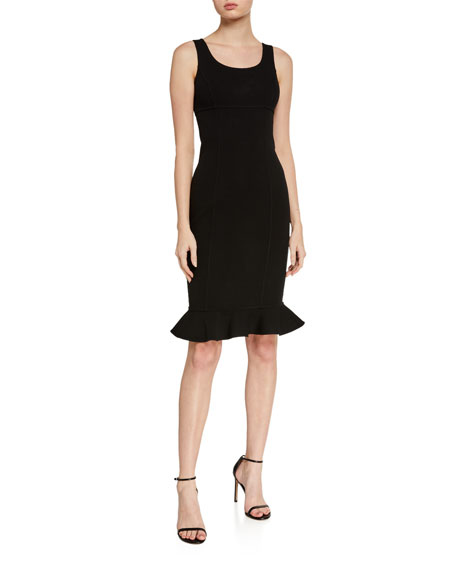 Michael Kors Collection Double-Ruffle Sheath Dress