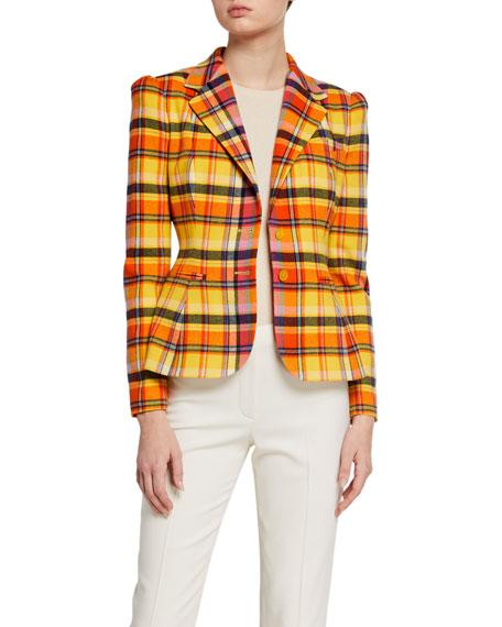Ralph Lauren Collection Eloise Plaid Blazer Jacket