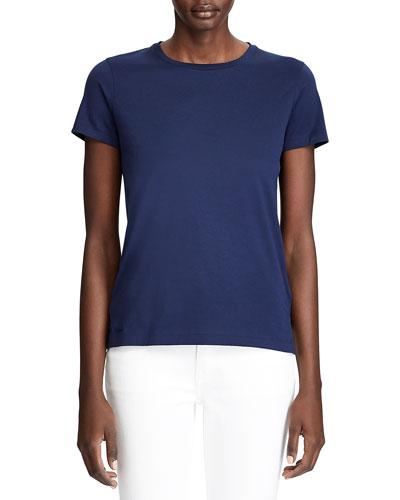 Pima Cotton Short-Sleeve Crewneck Shirt