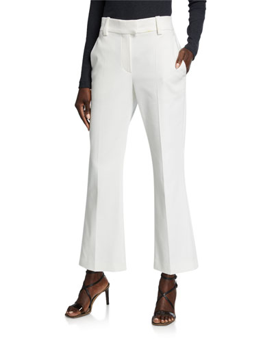 Cropped Cotton Kick-Flare Pants