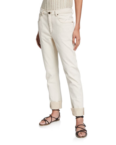 Garment-Dyed Straight Leg Pants