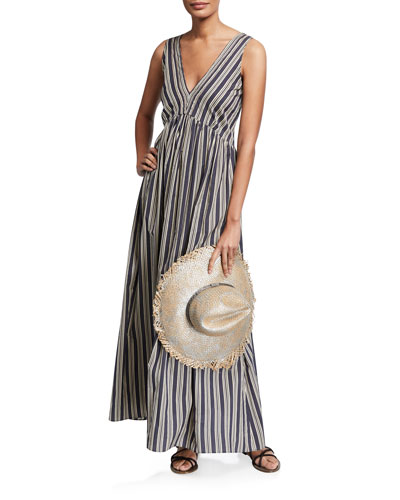 Regimental Striped Cotton-Silk Dress