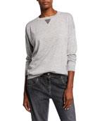 Brunello Cucinelli Cashmere-Silk Crewneck Sweatshirt