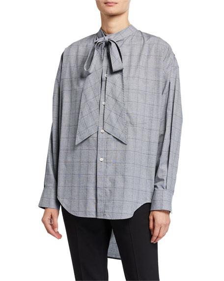 Balenciaga Prince of Wales Poplin Swing Shirt