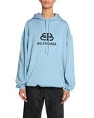Balenciaga BB-Logo Looped-Fleece Hoodie