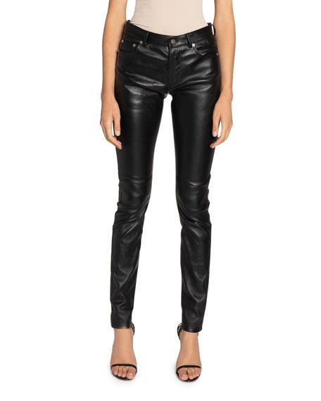 Saint Laurent Leather Skinny Jeans