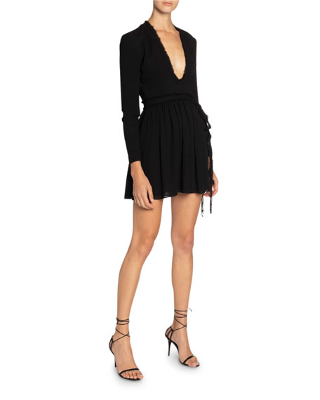 Saint Laurent Jersey Scoop-Neck Dress