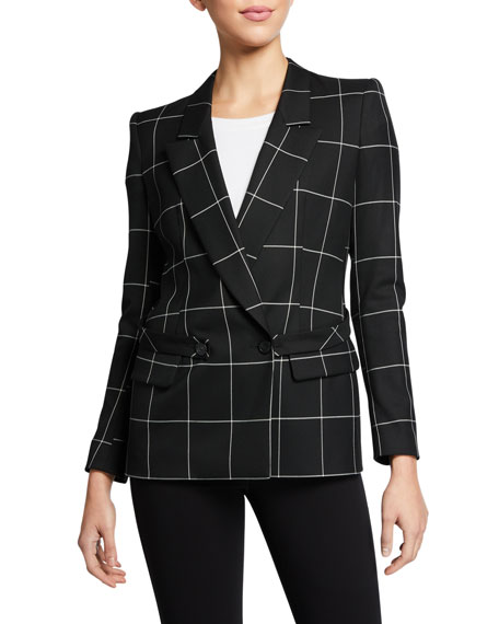 Emporio Armani Windowpane Double-Breasted Jacket